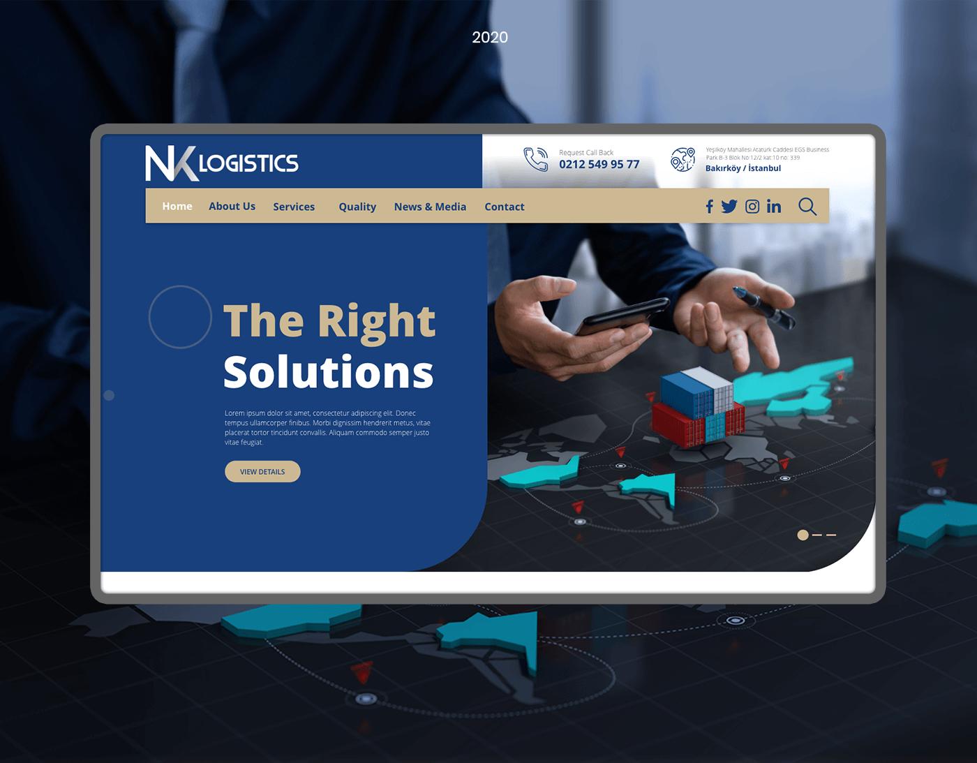 Nk Logistics Web Design